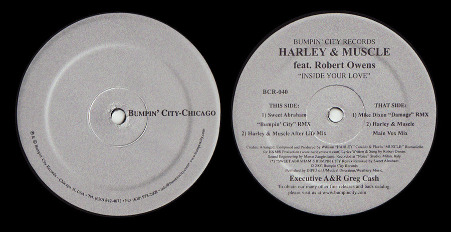 Harley & Muscle feat. Robert Owens : Inside Your Love