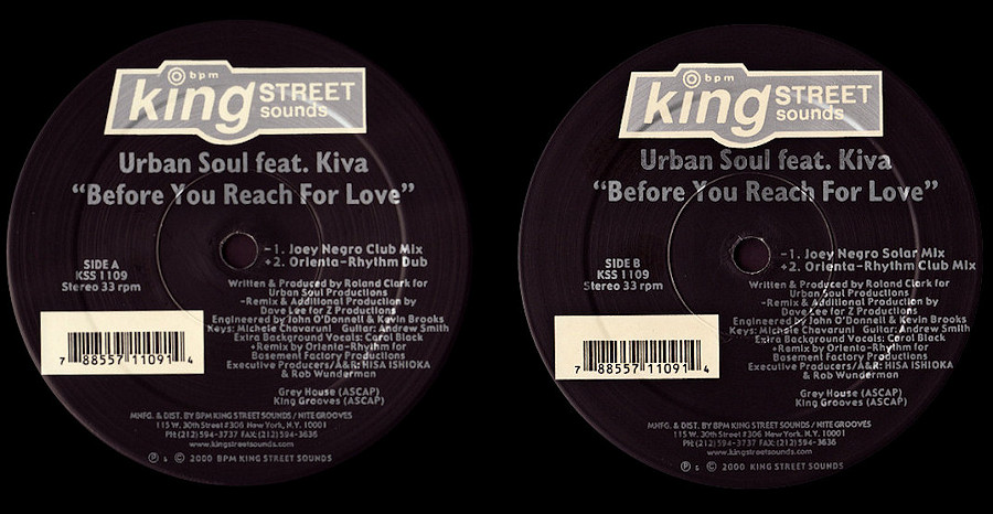 Urban Soul feat. Kiva : Before You Reach For Love (Joey Negro - Orienta Rhythm)