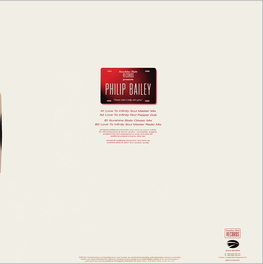 Philip Bailey : How Can I Rely On You (Love To Infinity)