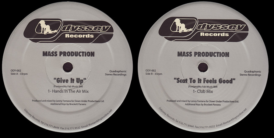 Mass Production : Give It Up / Scat To It Feels Good