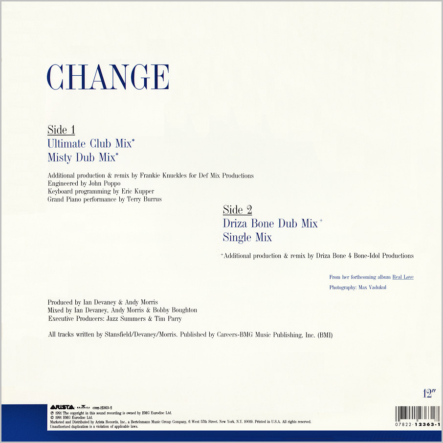 Lisa Stansfield : Change (Frankie Knuckles, Eric Kupper & Terry Burrus)